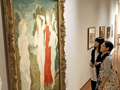 レオナール・フジタ展開催中 新潟市・県立万代島美術館