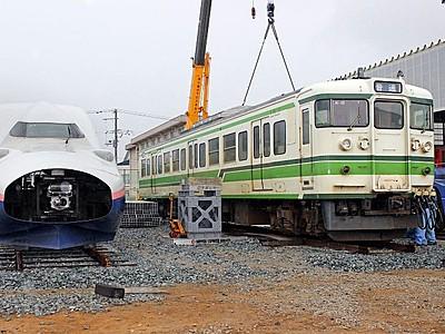 新潟秋葉区・鉄道資料館に「115系」 「E4系」の隣へ