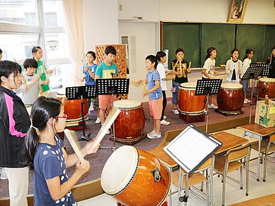 富山・四方小児童が練習に熱 「Wa!Go!だらまつり」
