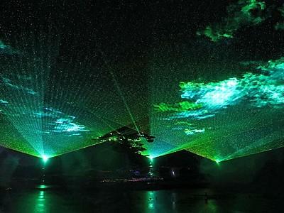 光と水オーロラショー公開中 アパリゾート上越妙高