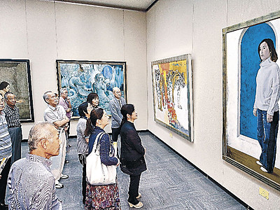 写実の美と対話 県立美術館で光風会展開幕