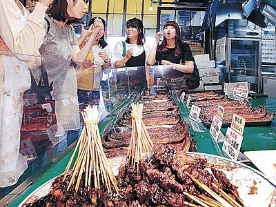 ドジョウで体力カバー 近江町市場、かば焼き売れる