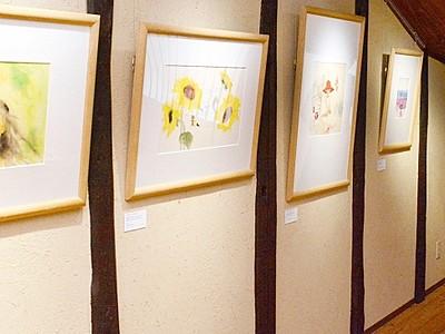 ちひろ描く夏の子ども 越前市 複製画展示