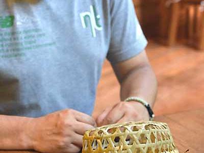 戸隠味わう竹細工弁当 女性限定飯縄山登山で提供へ
