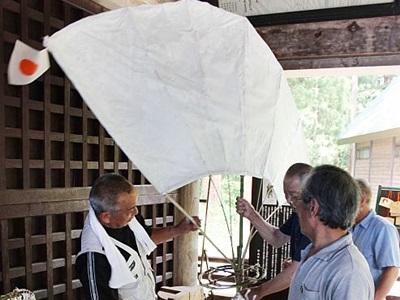 伝統守り本番に備え 15日から火祭り 妙高・関山神社