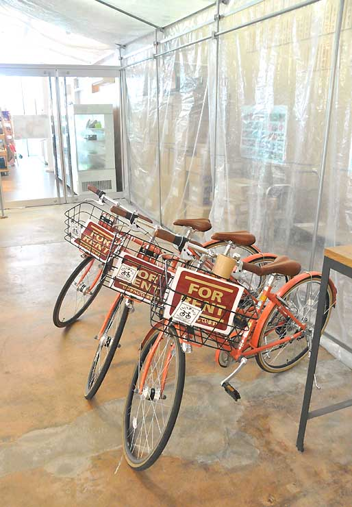 木島平村の道の駅「FARMUS(ファームス)木島平」に整備した自転車