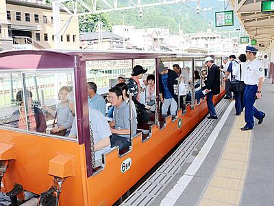 トロッコ電車が全線運行再開 黒部峡谷鉄道