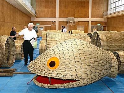 関川30回目まつり 新大蛇どんなもんじゃ 出来栄え審査