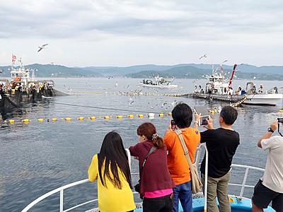 定置網漁見学ツアーにぎわう 氷見市観光協会