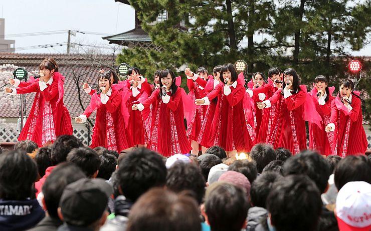 新潟港開港150周年プレイベントでライブを行うことになったNGT48=4月、新潟市歴史博物館