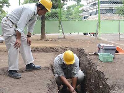 松本城、試掘を開始 南・西外堀の復元へ