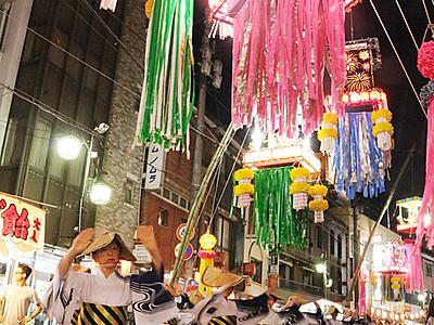 福光ねつおくり七夕祭り開幕 民踊街流しにぎわう