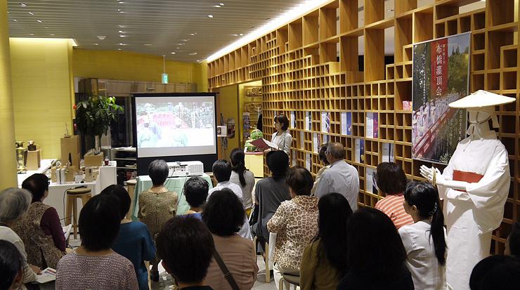 布橋灌頂会を中心に立山信仰を紹介したイベント=日本橋とやま館