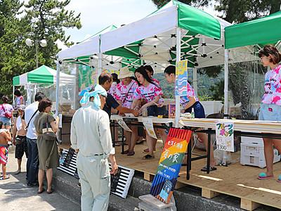 昭和女子大生の「海の家」オープン 朝日・宮崎海岸