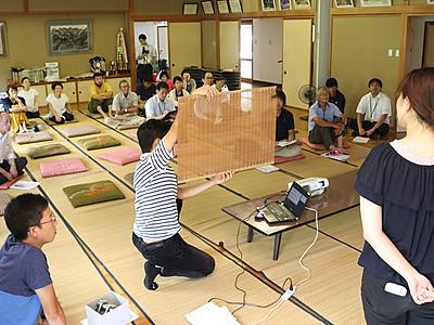 蛭谷文化発信へ提言 朝日で関東の大学生ら