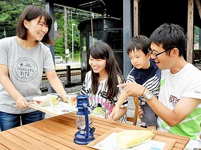 勝山駅出たら「旅カフェ」 20日まで