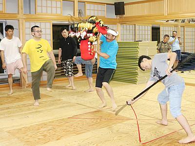 震災復興獅子舞で応援、利賀・上村若連中 16日岩手で祭り