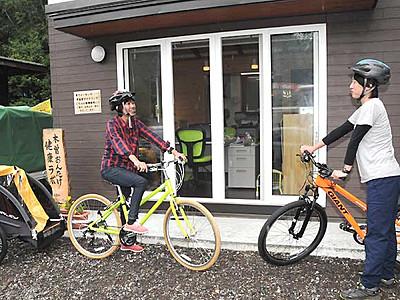 自転車で巡る開田高原 スタンプラリーで健康づくり