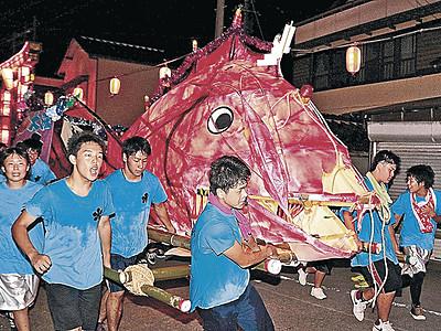 大漁願い「タイ」駆ける 輪島大祭最終日