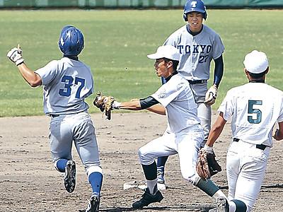 泉丘が東大に勝利 野球部創部110周年記念試合、24-5の大差