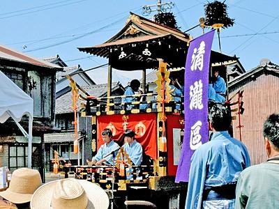 山車、150年ぶり大修繕 16日から小浜・放生祭