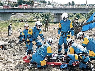 1万8千人、万一に備え 県防災総合訓練、金沢で42年ぶり