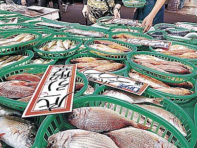 待ってました底引き初物 近江町市場