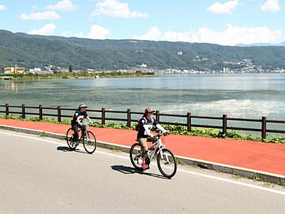 諏訪湖の魅力 自転車で感じて