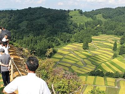 「慶地の棚田」に新名所の展望台 里山の絶景一望 十日町