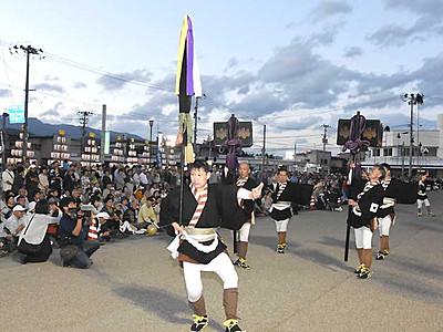飯田の大名行列、山形県に遠征 息の合った演技を披露
