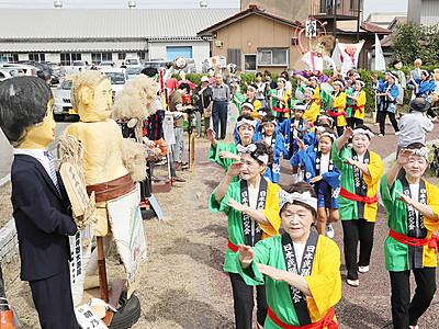 高岡・中田かかし祭開幕 朝乃山人気で大入り