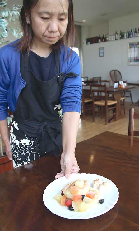「君の名は。」に登場したパンケーキをイメージした限定メニュー