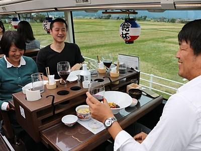 トキと味わう島の食 レストランバス佐渡市内初運行
