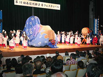 熱気渦巻く屋内の演舞 飯田で南信州獅子舞フェス
