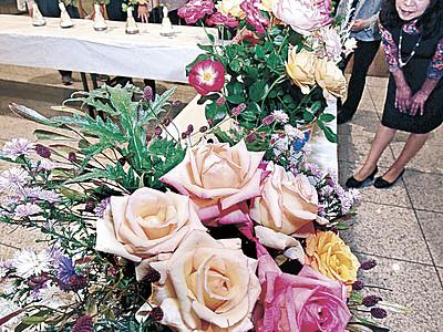 秋のバラ彩る 金沢で第120回展、最高賞に山崎さん