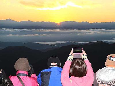 「感動」阿智の夜明け 雲海を眺めるツアー