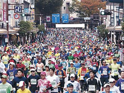 金沢マラソン、最多1万3973人疾走 3回目、スポーツの祭典定着
