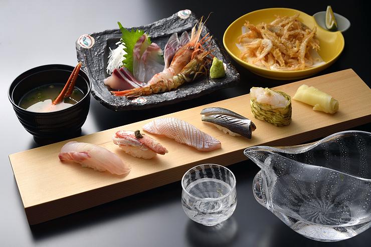 「富山湾鮨 一献セット」のメニュー例