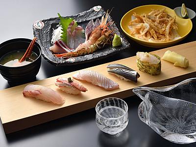 すしと地酒味わって 県内20店で富山湾鮨一献セット
