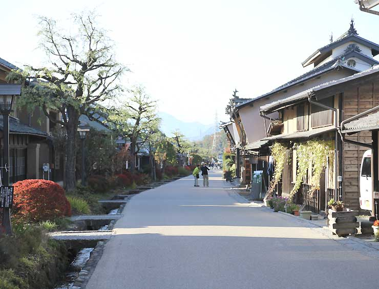 自転車で走る東御市の旧北国街道海野宿