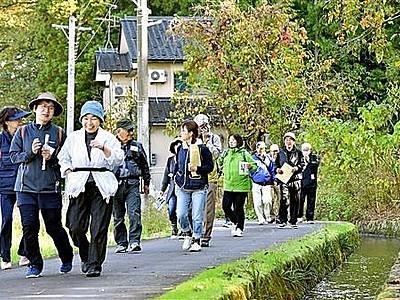 足羽川用水、散策楽し 世界かんがい施設遺産