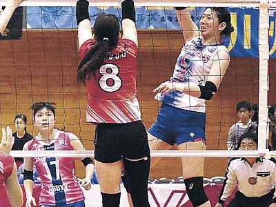 PFUが開幕戦快勝 バレーVチャレンジ女子I 金沢で1282人の観衆沸かせる