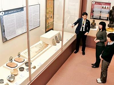 泰澄の実像に迫る300点 越前町織田文化歴史館で記念展