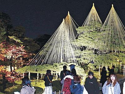 名園の紅葉、明かりに映え 金沢城・兼六園四季物語