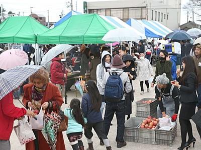 糸魚川「にぎわい広場」プレオープン マルシェ笑顔花咲く