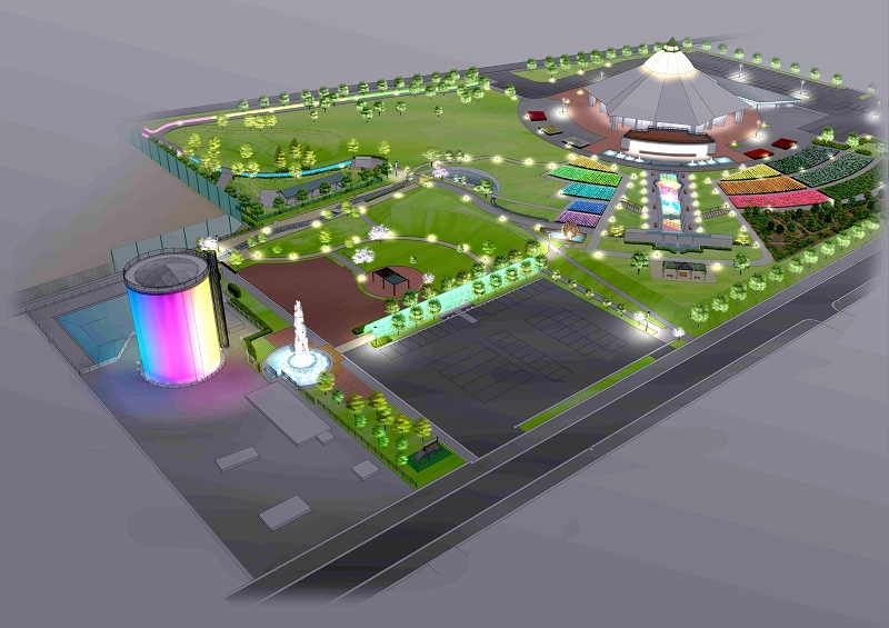 光と水と音の「聖地」に生まれ変わる福井県坂井市ゆりの里公園のイメージ図