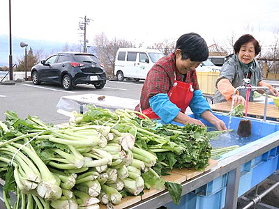 お菜洗い場、温泉有効活用 伊那市外の人も利用可能に