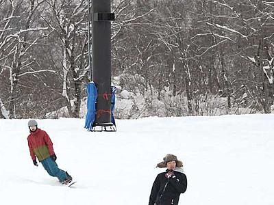 待ちわびた初滑り、ふかふか満喫 白馬2スキー場