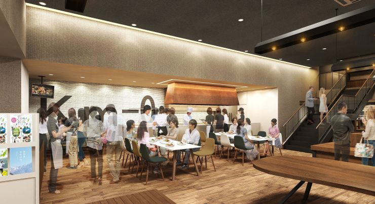 2018年春にJR新潟駅に開業予定の食文化をアピールする複合施設のイメージ図(JR東日本新潟支社提供)