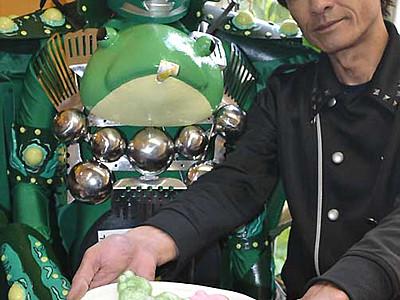 「カエルの街」にカエル形たい焼き 松本・縄手通りで販売へ